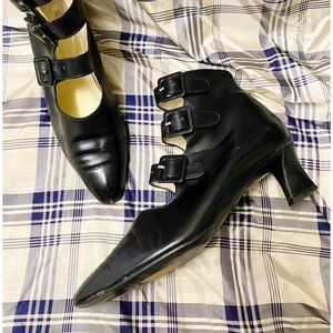 Robert Clergerie strap booties, size 8, from 90's